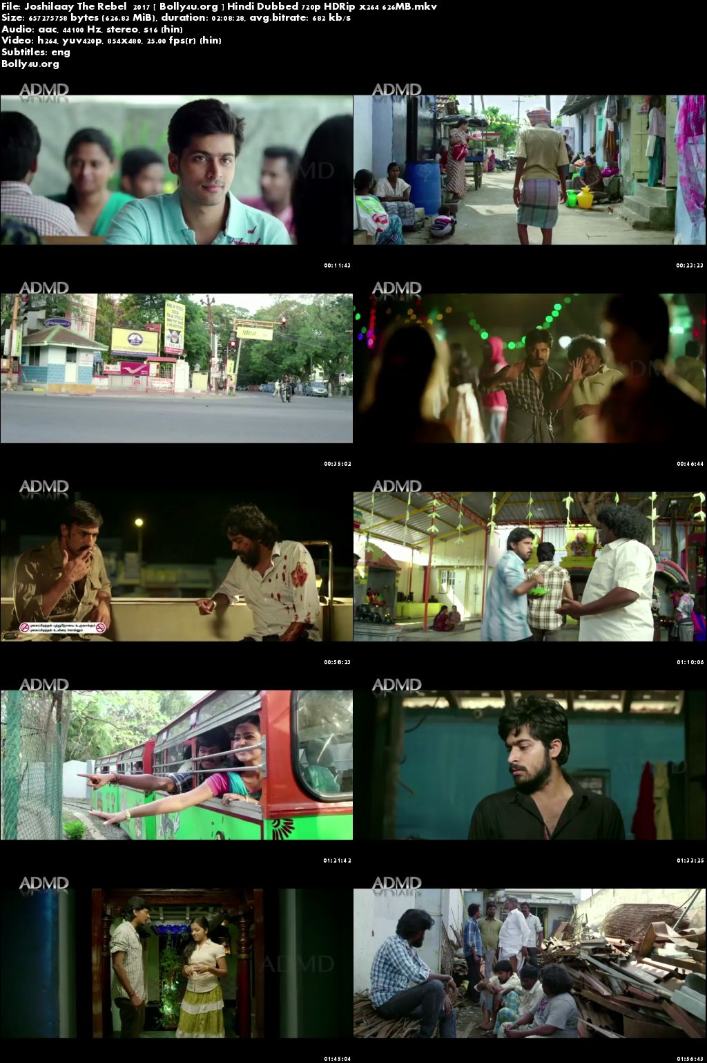 Joshilaay The Rebel 2017 HDRip 600MB Hindi Dubbed 720p Download