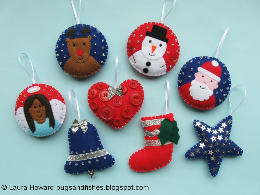Bugs And Fishes By Lupin Christmas Ornament Tutorial Sew A Felt