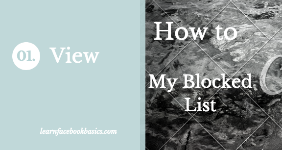 View Facebook Blocked List | How to See My Block List On Facebook