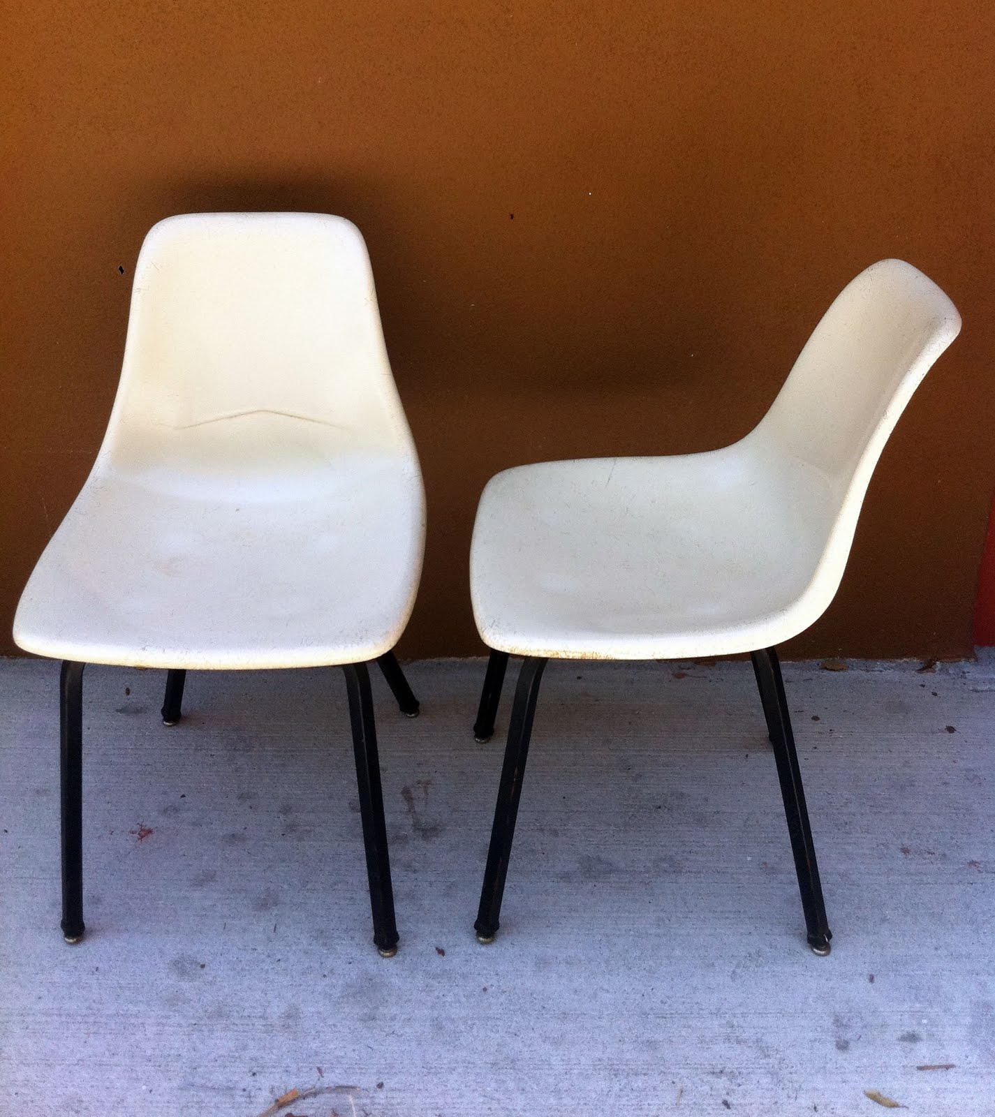 White Shell Chair Little Girl Rocking Junk2funk 2 Vintage Retro Fiberform Fiberglass