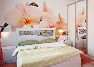 blommiga tapeter sovrum fototapet blommor