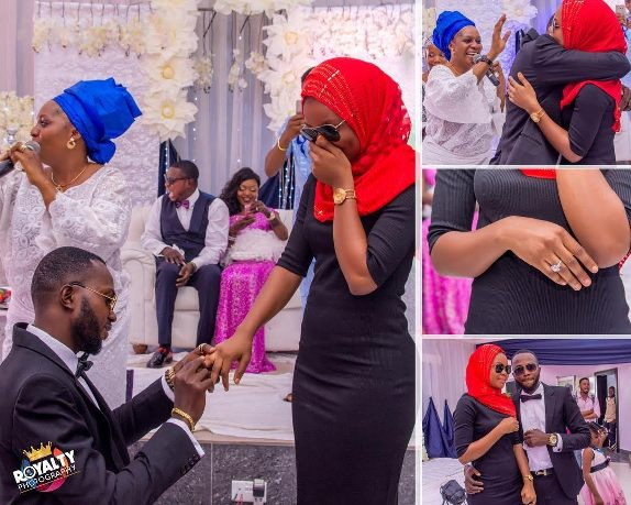 Photos: Best man proposes to his woman at wedding reception in Lagos