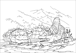 Best Of Spinosaurus Coloring Pages