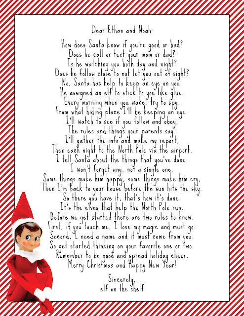 Decisive image with regard to elf on the shelf printable letter
