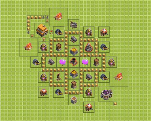Clash of Clans Town Hall 5 Farming Type 2
