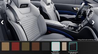 Nội thất Mercedes SL 400 2016 màu Trắng Platinum X30