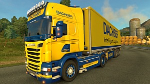Dachser Scania R skin and trailer