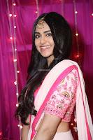 Adaa Sharma in White Pink Saree at Zee Telugu Apsara Awards 2017 11.JPG