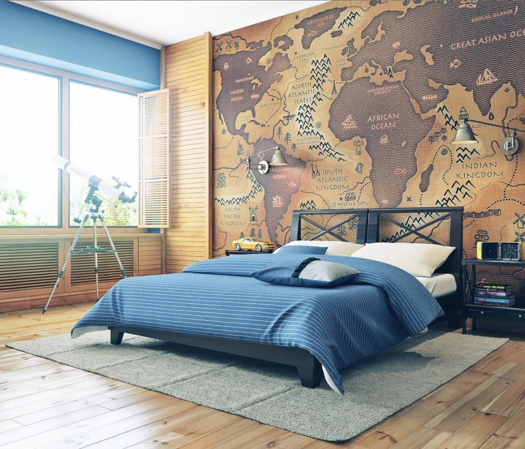 ambientes decorados com mapas 6 - A elegância dos Mapas na decoração de Ambientes