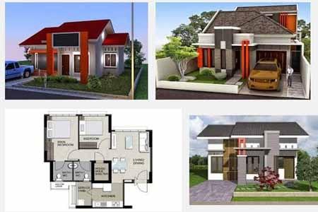 Desain rumah minimalis sederhana satu lantai type 45