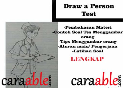 Contoh dan pembahasan Tes Psikotes Menggambar Orang Beraktivitas / Draw a Person (DAP) Test dengan rahasia penilaian yang lengkap ditambah dengan tips rahasiannya