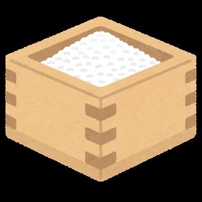 枡に入った米のイラスト