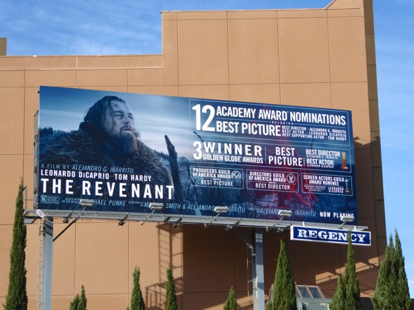 The Revenant Oscar nominee billboard