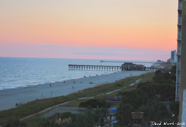 myrtle beach sunset pier