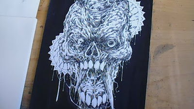 black ink zombie drawings