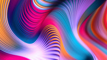 Colorful, Abstract, Moving, Wave, Digital Art, 4K, #4.312