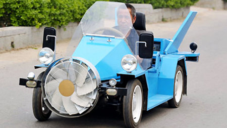 Chinese farmer creates its own wind car