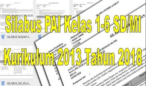 Silabus PAI Kelas 1-6 Semester 1 Dan 2 Kurikulum 2013 Terbaru