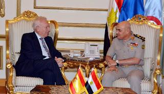 الفريق أول / صدقى صبحى يلتقى وزير الخارجية والتعاون الإسبانى