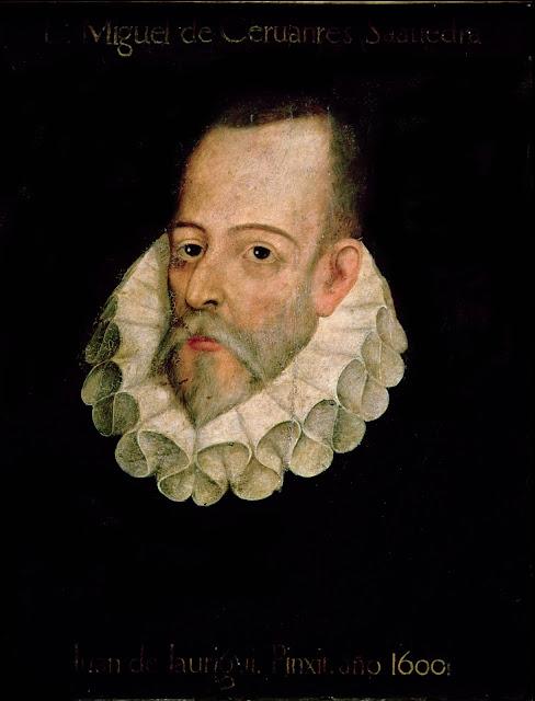 Atribuido a Juan de Jáuregui - Retrato de Miguel de Cervantes - c. 1600