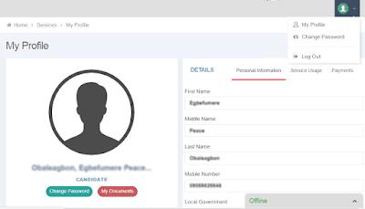 jamb candidate profile setting