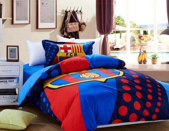 desain kamar tidur bertemakan barcelona yang keren rumahku