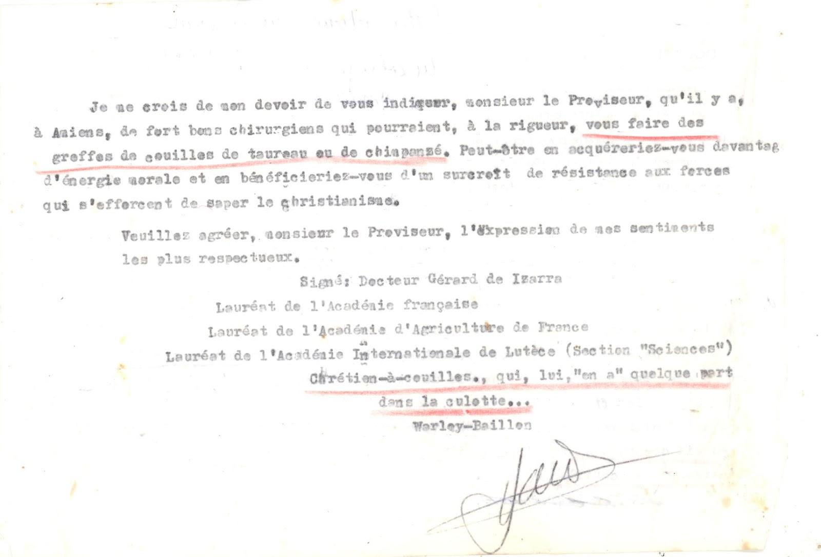 Histoire Du Docteur Gerhard Diego De Izarra 82 Lettres D Injures