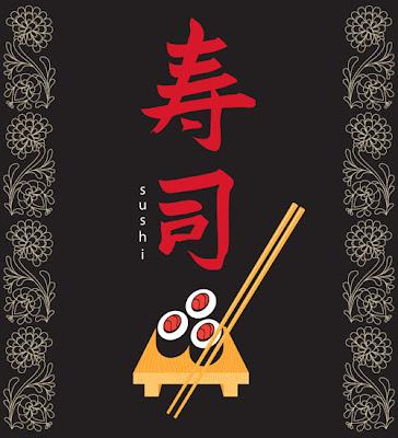 vector de sushi japonés