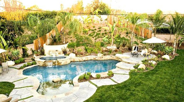 Landscaping Around Pool Decorative Design