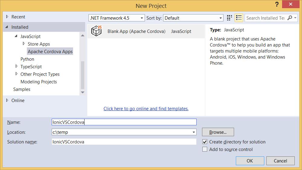 spritehand: Using Ionic with Windows 8, Windows Phone + Cordova