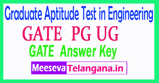 Graduate Aptitude Test in Engineering GATE 2018 Answer Key