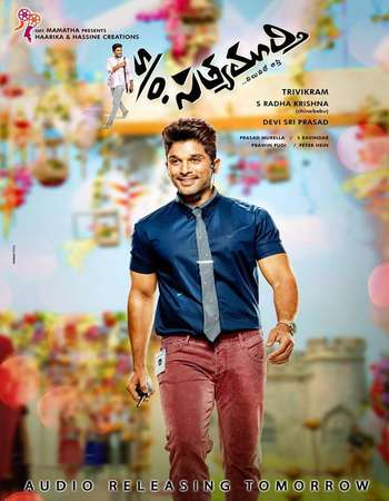 Poster Of S/O Satyamurthy 2015 Dual Audio 700MB HDRip [Hindi - Telugu] Free Download Watch Online Worldfree4u