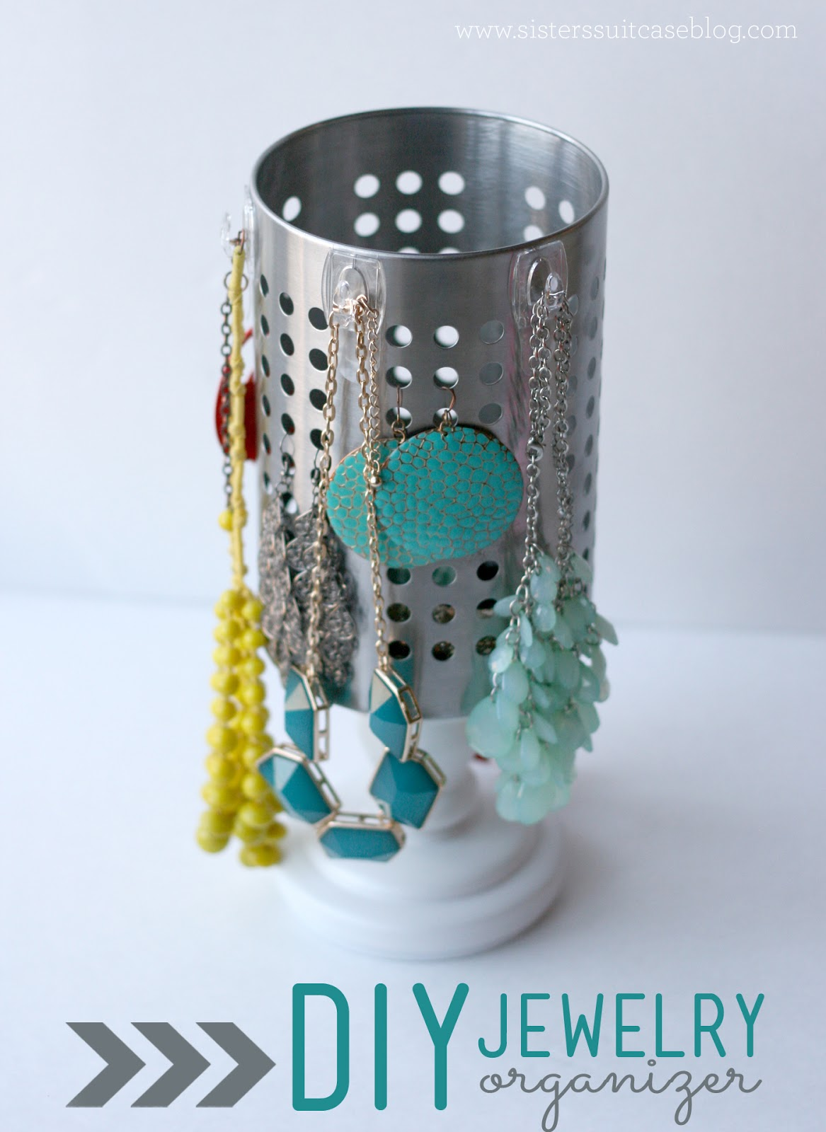 DIY Jewelry Organizer with IKEA Utensil Holder My Sisters