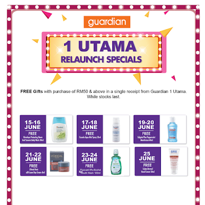 Guardian Malaysia Free Gift with Purchase 1 Utama Store Relaunch