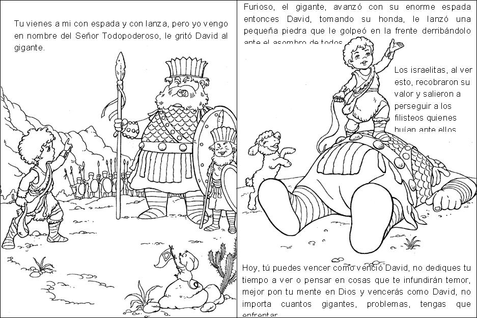 David Y Goliat Para Colorear Dibujos Cristianos Para: Dibujos Para Colorear De David Y Goliat
