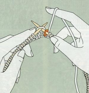 ... ad arrivare all anello segna-maglia che determina la fine del giro   passare l anello sull altro capo del ferro e proseguire nella lavorazione.  Ora non ... 845abb8a8ded