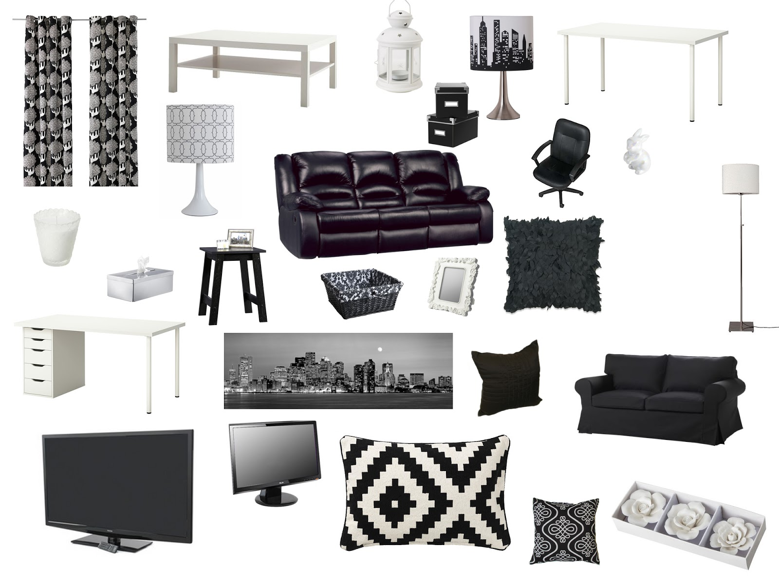 Luhivy S Favorite Things Black And White Living Room Home