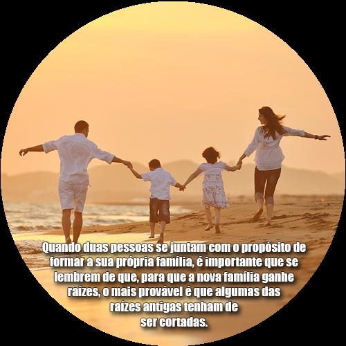 Quando duas pessoas se juntam com o propósito de formar a sua própria família, é importante que se lembrem de que, para que a nova família ganhe raízes, o mais provável é que algumas das raízes antigas tenham de ser cortadas.