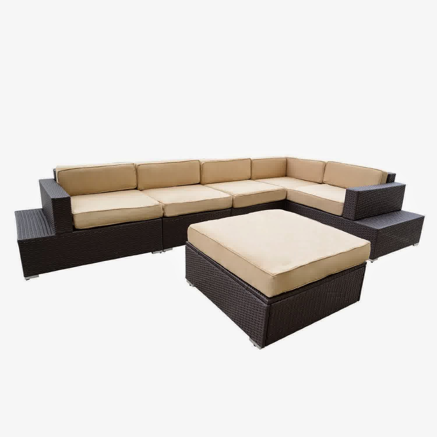 rattan outdoor sofa one armed big sale discount 50 patio wicker