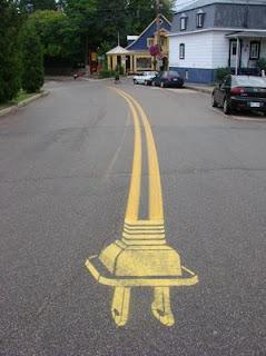 arte en las calles y carreteras