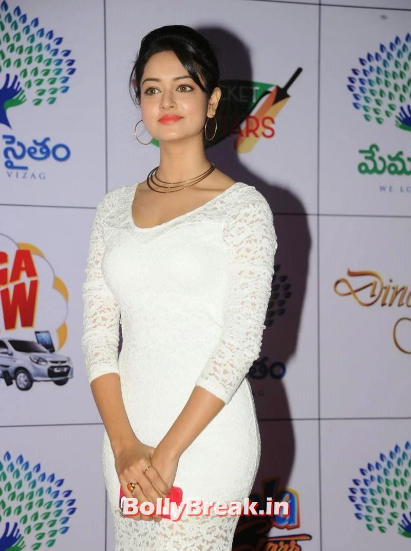Shanvi Latest Stills, Actress Shanvi Hot Sexy Pics in White Dress
