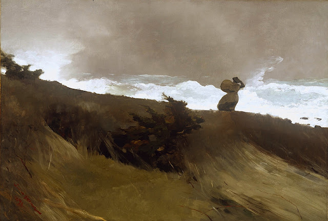 Winslow Homer 1891 windy beach