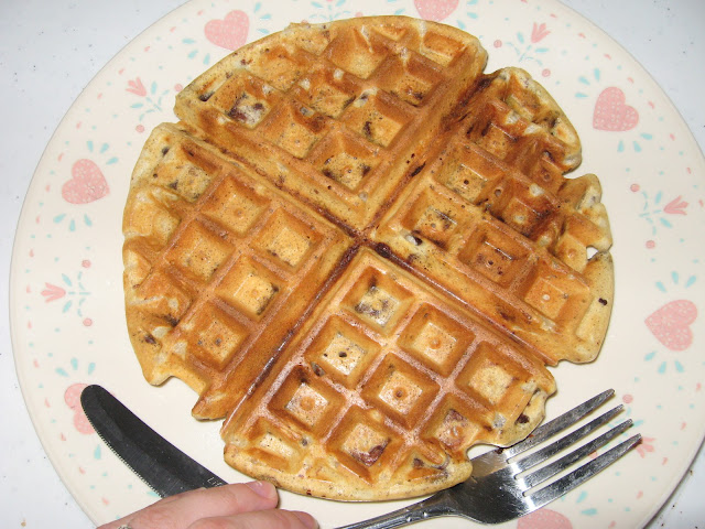 Oat Waffles (+ Chocolate Chips)
