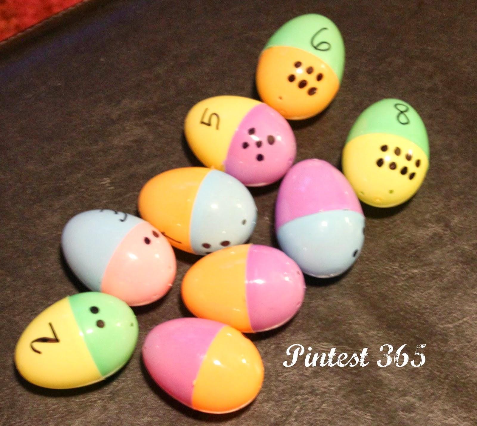 Pintest 365 Day 80 Plastic Easter Egg Learning