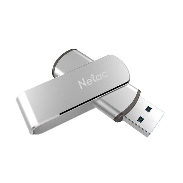 $19.99 / €17.16 Shipped for Netac U388 Metallic 360 Degree Rotation 128GB USB 3.0 Flash Drive