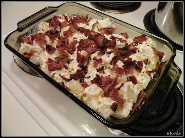 Baked Potato Casserole all set
