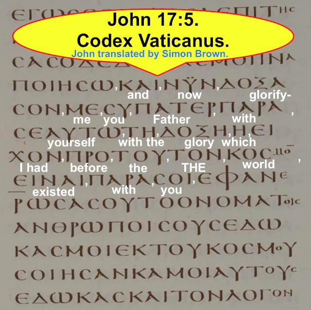 John 17:5. Yet Again Another Trinitarian Confusion. Creating A TRINITARIAN Deception.