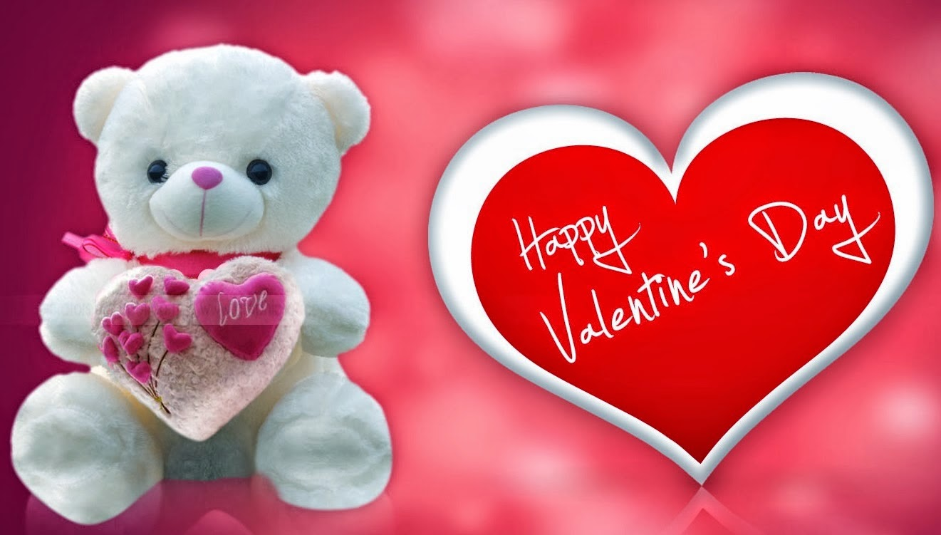 Romantic Valentines Day Teddy Bear Gift