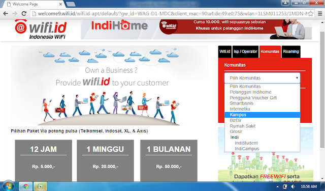 Akun @Wifi.id Kampus Januari 2019 masih Work 100%