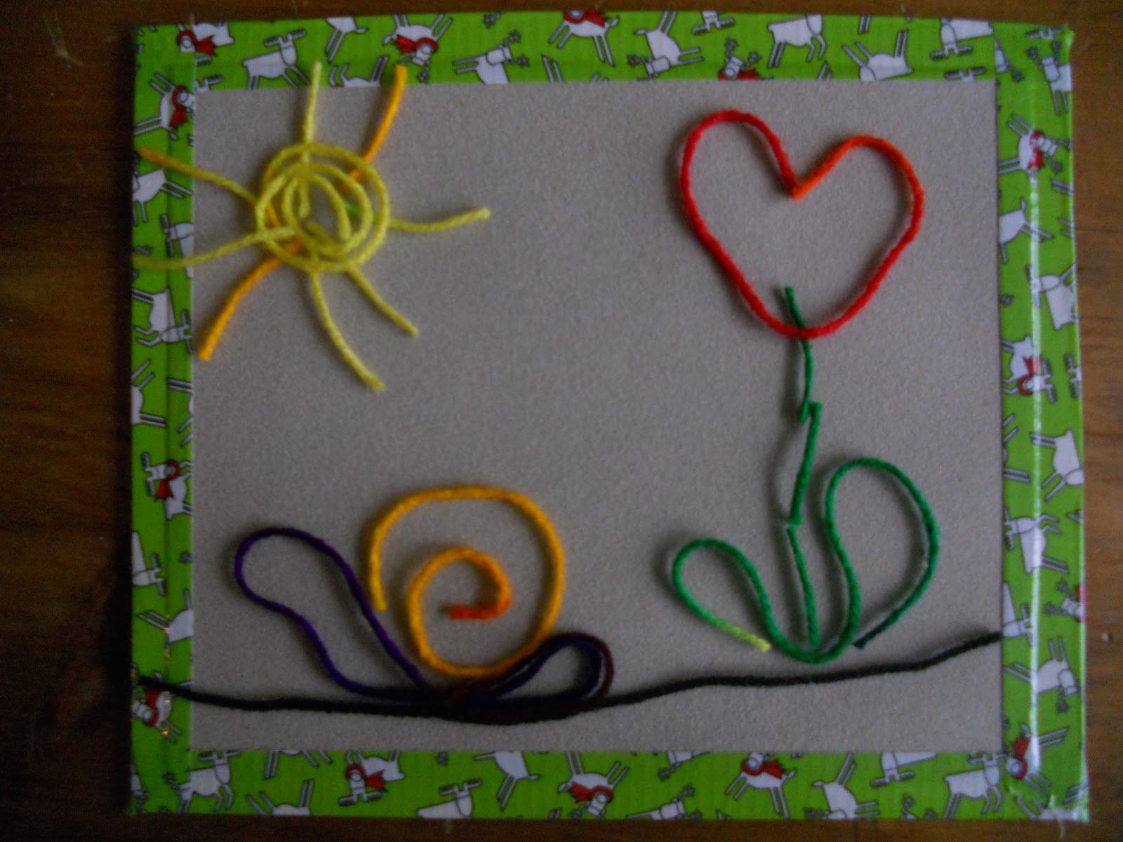 yarn painting preschool - photo #2